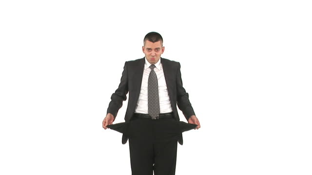 hd loop: broke businessman - trousers stock videos & royalty-free footage