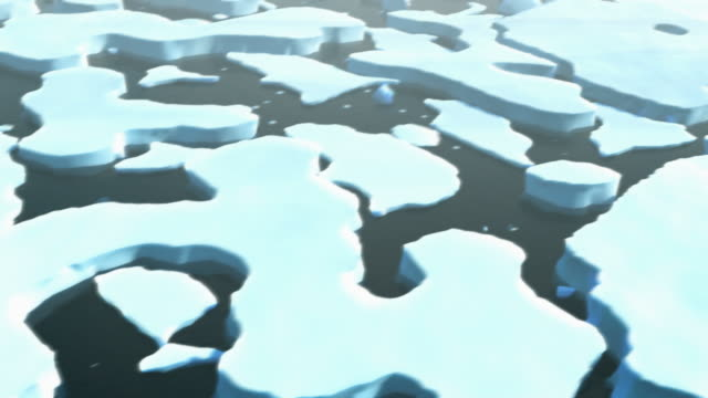 broken arctic ice pack (hd 1080p) - icefall stock videos and b-roll footage
