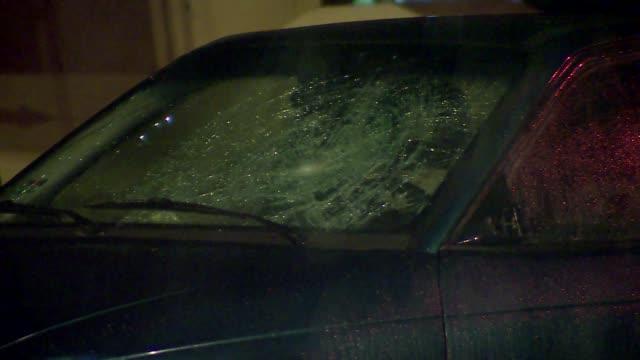 broken car window - traffic accident stock videos & royalty-free footage