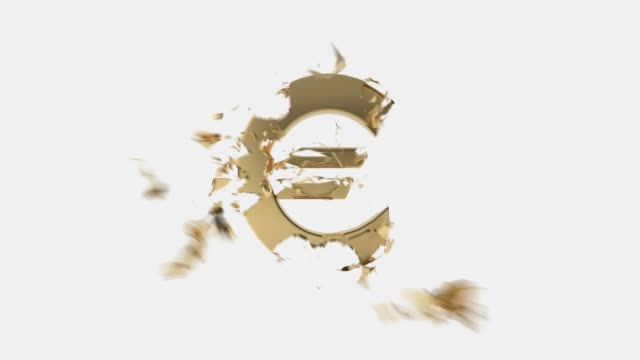 broken evro - euro symbol stock videos & royalty-free footage