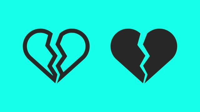失恋 - ベクトル アニメーション - 破壊点の映像素材/bロール