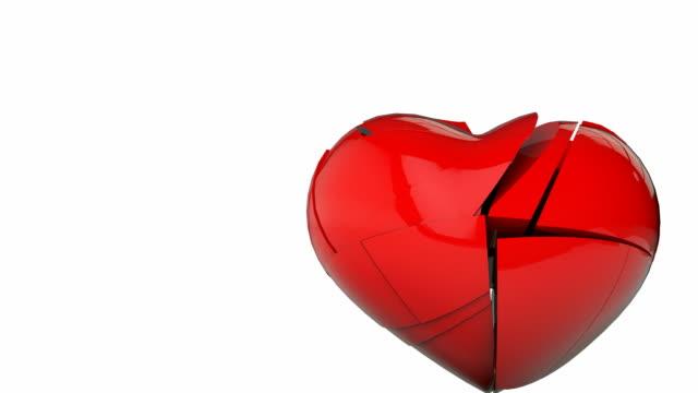 broken heart - broken heart stock videos and b-roll footage