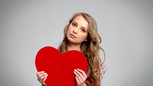 broken heart/debica/poland - divorce stock videos & royalty-free footage