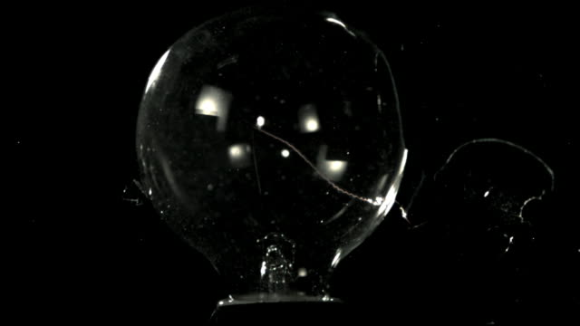 cu slo mo broken light bulb with glowing filament / burbank, california, usa - filament stock videos & royalty-free footage