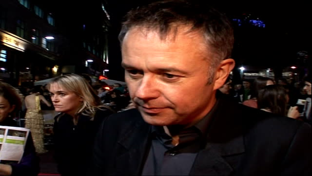 'Broken Lines' and 'Genova' premiere at the London Film Festival Michael Winterbottom interview SOT Great reaction to film so far / On handheld...