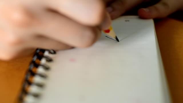 broken pencil - broken pencil stock videos & royalty-free footage
