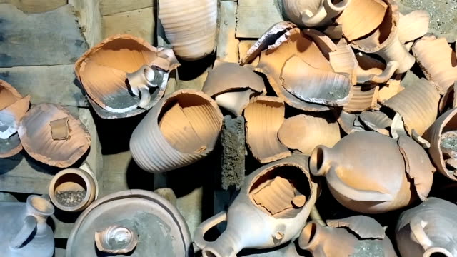 broken pottery - cooking pan stock videos and b-roll footage