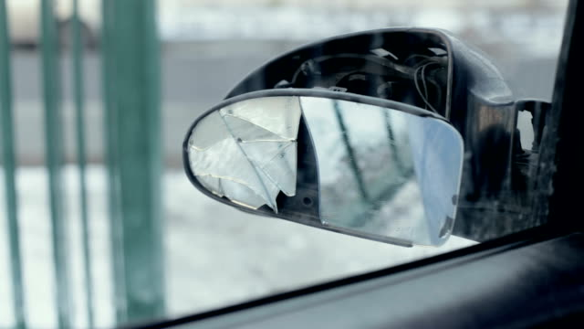 broken side-view mirror - traffic accident stock videos & royalty-free footage