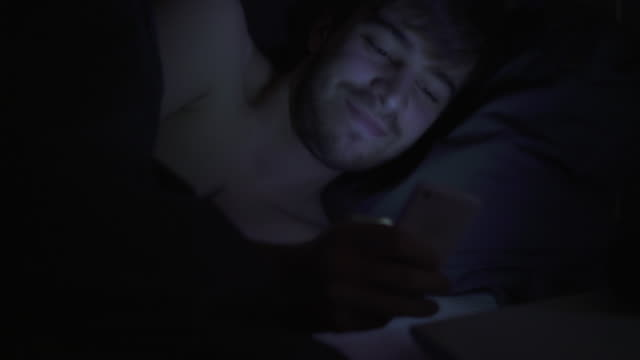 broken sleep, phone text message.2. - young men stock videos & royalty-free footage