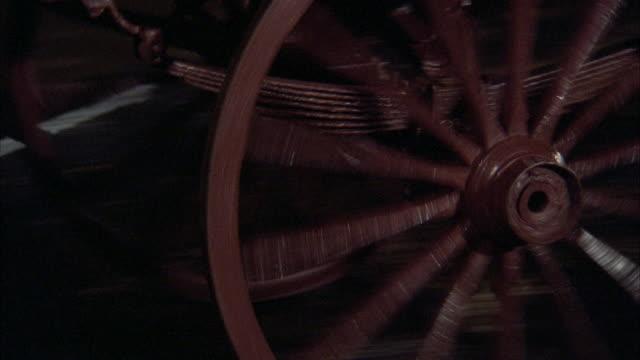 ms pan broken wagon wheel on wet street - horse cart stock videos & royalty-free footage