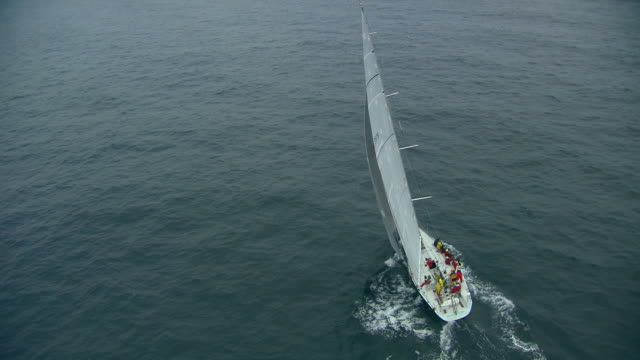 brokenwood, the 54ft yacht sailed by sailors with disabilities in the 2009 sydney to hobart yacht race; hobart. skippered by david pescud, australia - sailing team stock videos & royalty-free footage