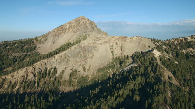 Brokeoff Mountain, a remnant of the ancient volcano, Mount Tehama, in Lassen Volcanic National Park.