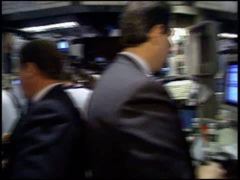 brokers and traders working at the nyse. - new york stock exchange stock videos & royalty-free footage