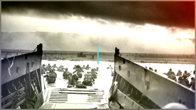 Broll and selected images from the D Day invasion during World War 2 captions from US Army May 16 2018 Image courtesy Anthony Sweeney/US Army Europe