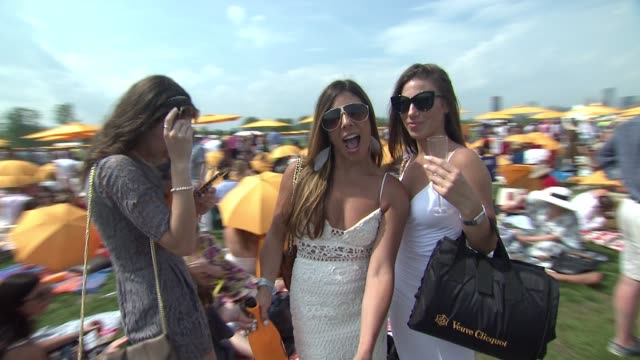 ATMOSPHERE broll and signage at NinthAnnual Veuve Clicquot Polo Classic at Liberty State Park on June 4 2016 in Jersey City New Jersey