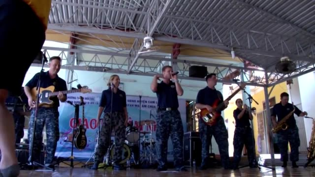 Broll as the Pacific Fleet Band plays near the beach in Nha Trang Vietnam during Pacific Partnership 2018 May 20 2018 Image courtesy Petty Officer...
