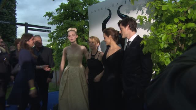 BRoll Elle Fanning Lesley Manville Angelina Jolie Sam Riley at 'Maleficent' Premiere at on May 8 2014 in London England