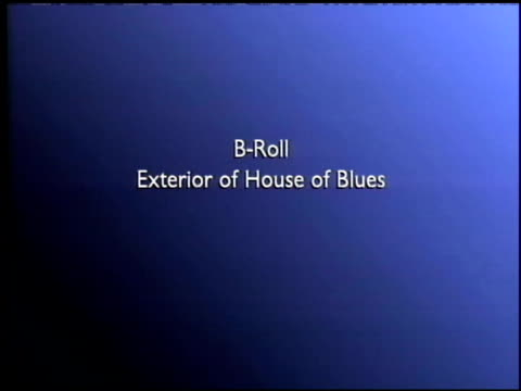 exterior of the house of blues at the american express jam sessions with kid rock epk at house of blues in los angeles, california on february 10,... - kid rock stock videos & royalty-free footage