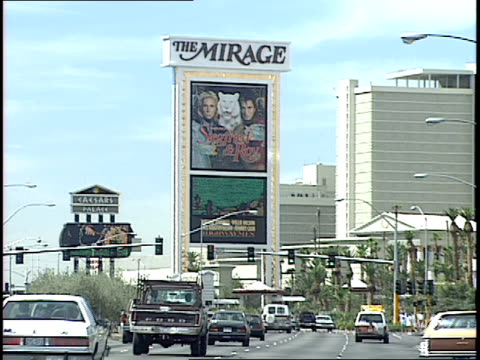 roll footage of las vegas from 1990's. - the mirage las vegas stock videos & royalty-free footage