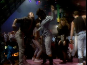 roll footage of people dancing for club mtv in 1988. - mtv stock videos & royalty-free footage