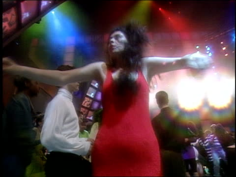 broll footage of people dancing for club mtv in 1989 - fernsehserie stock-videos und b-roll-filmmaterial