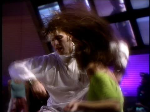 BRoll footage of people dancing for Club MTV in 1989