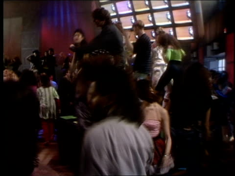 BRoll footage of people dancing for Club MTV in 1989
