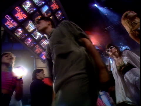 broll footage of people dancing for club mtv in 1991 - 1991 stock videos and b-roll footage