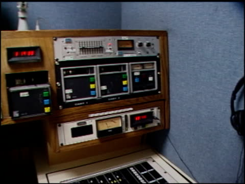 broll footage of radio station tapes and equipment - audio software stock videos & royalty-free footage