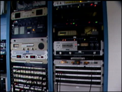 roll footage of radio station tapes and equipment. - radio studio stock videos & royalty-free footage
