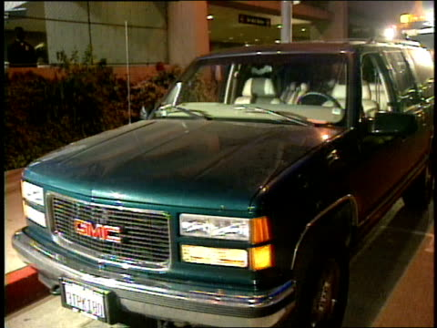 broll footage of the vehicle that biggie smalls was riding in when he was shot and killed bullet holes visible and police are on the scene - biggie smalls stock videos and b-roll footage