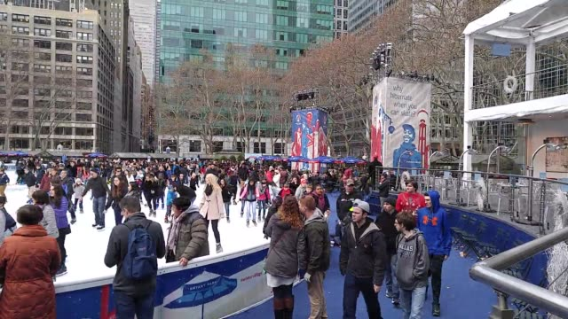 broll footage of winter village at bryant park in new york city. - bryant park stock videos & royalty-free footage