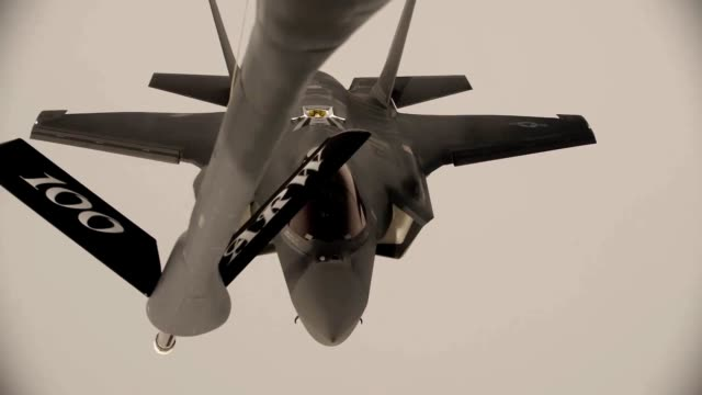 Broll of 100 ARW performing various midair refueling operations on fighter jets and other military aircraft May 23 2018 Image courtesy 1st Lt...