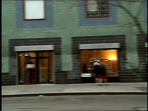 broll of 1994 houston street in new york city filmed from a moving car - anno 1994 video stock e b–roll