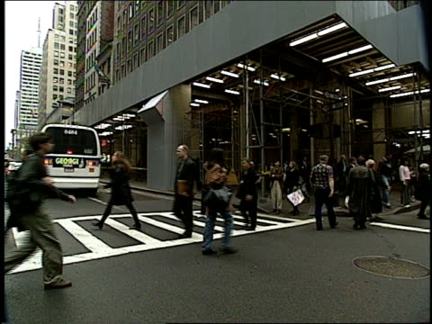 broll of 1994 new york city streets filmed from a moving car - anno 1994 video stock e b–roll