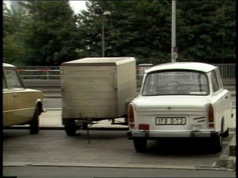 roll of cars in soviet east berlin - east germany stock videos & royalty-free footage