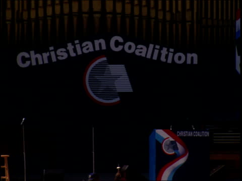 roll of christian coalition rally in washington dc - christianity stock videos & royalty-free footage