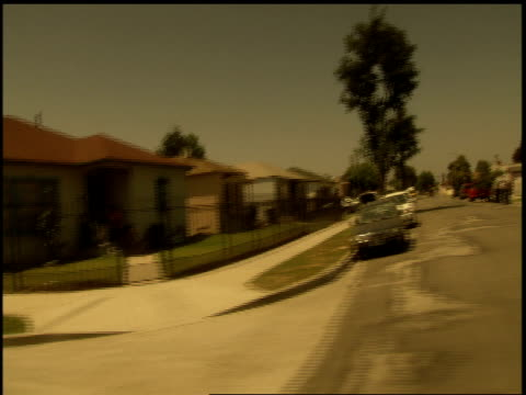 broll of compton california neighborhoods from car - 2000 stock videos & royalty-free footage