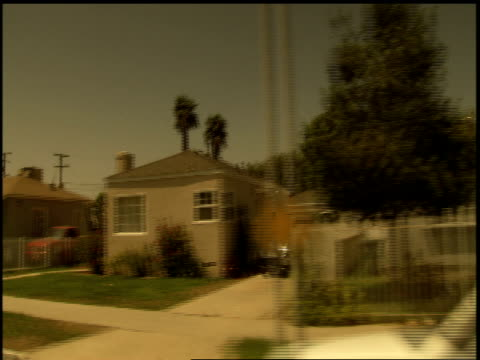 BRoll of Compton California Neighborhoods from Car