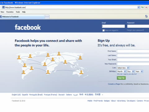 roll of facebook login homepage. facebook played a pivotal role in social media and communication in the 21st century. - page stock videos & royalty-free footage