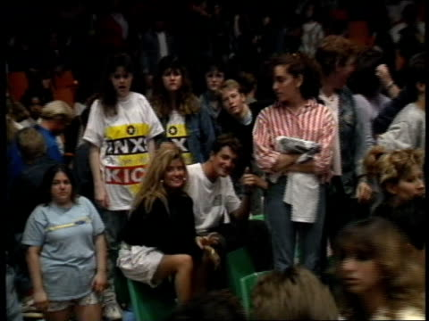roll of fans at inxs concert at the sportatorium in hollywood, florida. - hollywood florida stock videos & royalty-free footage