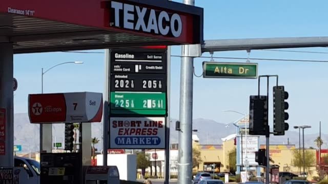 Las Vegas Gas Prices >> Broll Of Gas Price Signs And Pump Meter Around Las Vegas Retail