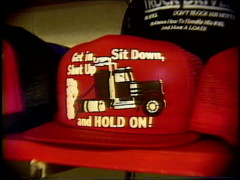 broll of novelty hats in 1990 - trucker cap stock videos & royalty-free footage