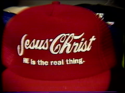 broll of novelty hats - trucker cap stock videos & royalty-free footage