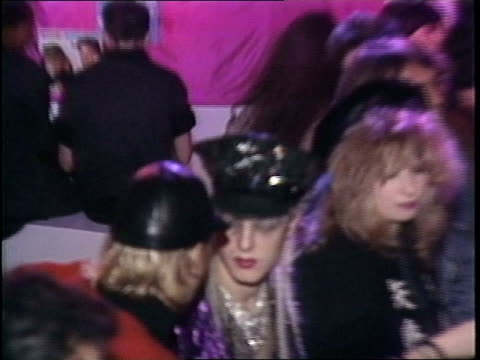broll of people dancing at a party in 1984 new york city - 1984 stock videos & royalty-free footage