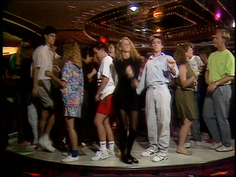 roll of people dancing in cruise nightclub in 1990 - 1990 stock videos & royalty-free footage
