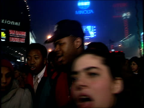 BRoll of Protesters in Times Square Bushs War Chant