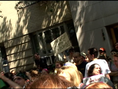 roll of sign at protest in nyc - 2000s style stock videos & royalty-free footage