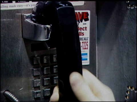 roll of someone using a payphone. - telephone booth stock videos & royalty-free footage