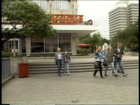 roll of soviet east berlin in 1988 - east germany stock videos & royalty-free footage